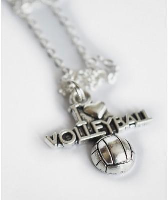 Naszyjnik I love Volleyball