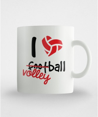 Kubek I ♥ ?foot? volleyball