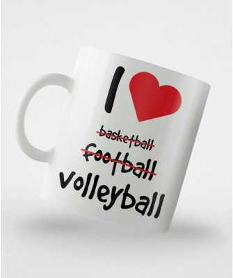 Kubek I ♥ volleyball