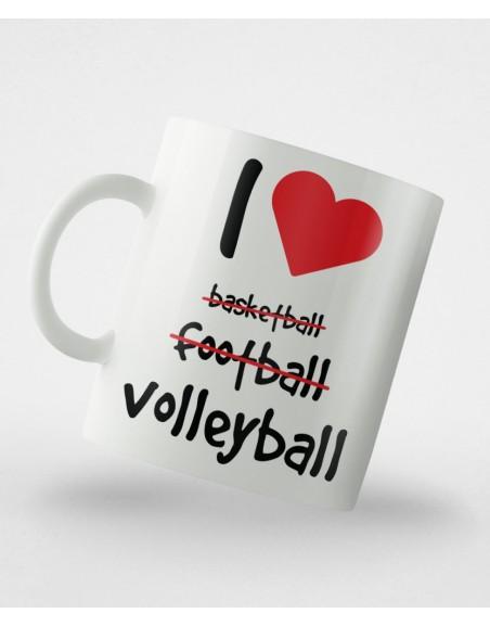 Kubek I ♥ volleyball