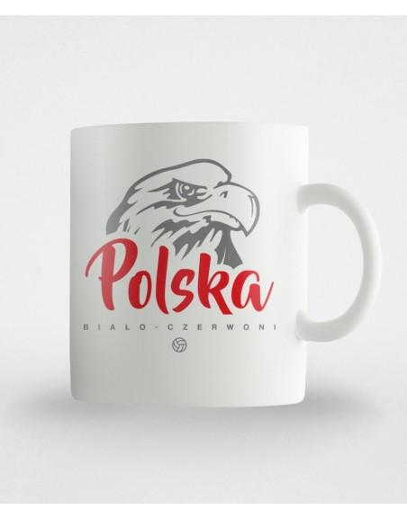 Kubek Polska biało-czerwoni